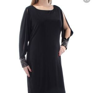 Calvin Klein cold shoulder embellished dress